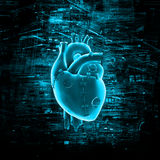 Virtual reality heart Stock Images