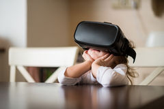 Virtual reality at home Stock Photography