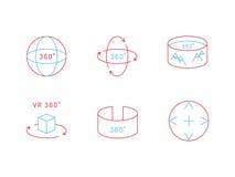 Virtual reality icon Stock Photos