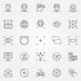 Virtual reality icons set Royalty Free Stock Photography