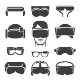 Virtual reality icons Stock Photos