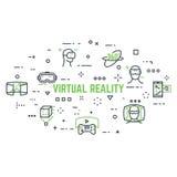 Virtual reality icons vector illustration
