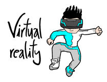 Virtual reality kid Royalty Free Stock Image
