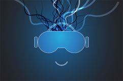 Virtual reality in life future technology background Stock Image