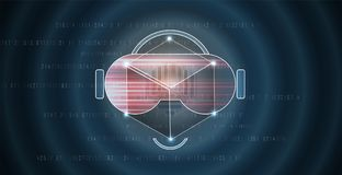 Virtual reality in life future technology background Royalty Free Stock Photos