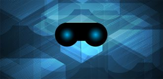 Virtual reality in life future technology background Royalty Free Stock Image