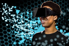 Virtual Reality Light Painting Stock Photography