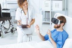 Virtual reality medical center royalty free stock photos