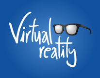 Virtual reality message Royalty Free Stock Photos
