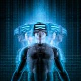 Virtual reality multitasking Royalty Free Stock Image
