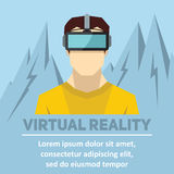 Virtual reality. New technologies and on line gaming Stock Photography