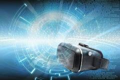 Virtual Reality orVr data technology background stock illustration