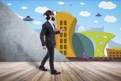 Virtual reality room stock image
