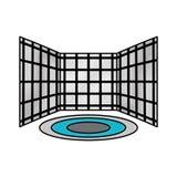 Virtual reality screens icon Stock Photos