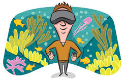 Virtual Reality Scuba Stock Photo