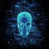 Virtual reality skull Royalty Free Stock Photos