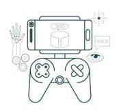 Virtual reality technology set icons. Vector illustration design Royalty Free Stock Image