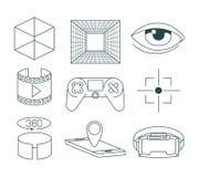 Virtual reality technology set icons. Vector illustration design Royalty Free Stock Photo