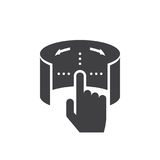 Virtual reality touch interface icon vector, solid logo illustra. Tion, pictogram isolated on white Royalty Free Stock Photos