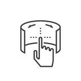Virtual reality touch interface line icon, outline vector logo i. Llustration, linear pictogram isolated on white Stock Image