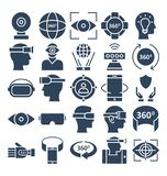 Virtual Reality Vector icons pack that can be easily modified or edit stock illustration