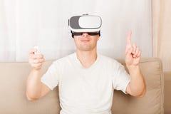 Virtual reality, VR. Stock Image