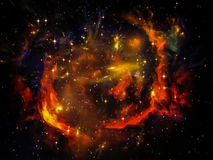 Virtual Ring Nebula Royalty Free Stock Photos
