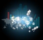 Virtual scheme concept Stock Photo