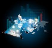 Virtual scheme concept stock image