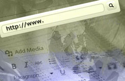 Virtual search bar. Http www text in browser address bar Royalty Free Stock Images