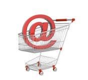 Virtual shopping Stock Image