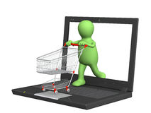 Virtual shopping Stock Photos