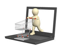 Virtual shopping Stock Photo