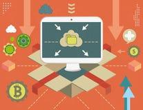 Virtual shopping concept Stock Image