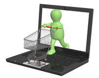 Virtual shopping Stock Image