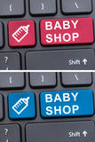 Virtual shopping for little children Royalty Free Stock Images