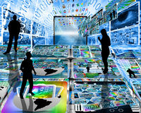 The virtual space of the Internet Stock Image