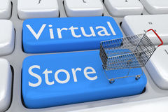 Virtual Store concept Royalty Free Stock Image