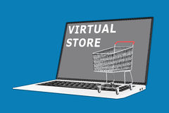 Virtual Store concept Royalty Free Stock Images