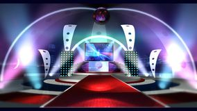 Virtual studio Entertainment 2 long. Virtual set studio for chroma footage Realize your vision for a professional-looking studio – wherever you want it vector illustration