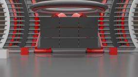 Virtual studio set, 3D render Stock Photo