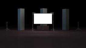 Virtual studio set 3d render Royalty Free Stock Photos