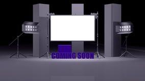 Virtual studio set 3d render Royalty Free Stock Photography
