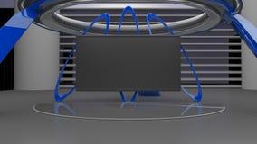 Virtual studio set 8K resolution, 3D render Stock Image