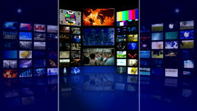 Virtual studtio background of video stock footage