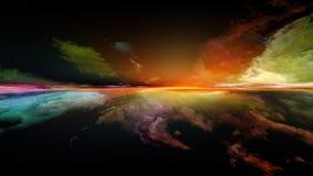 Virtual Sunset stock photo