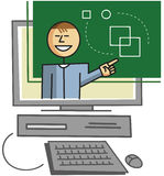 Virtual teacher. Giving lessons over the internet Stock Image