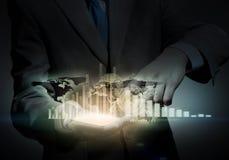 Virtual technologies in work Royalty Free Stock Photos