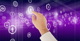 Virtual technology Royalty Free Stock Image