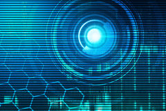 Virtual technology background Stock Image